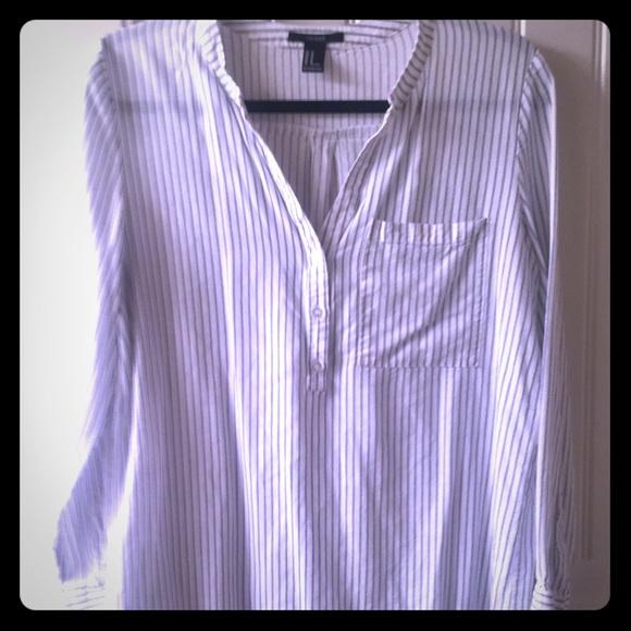 Striped Tunic with Pocket size Medium